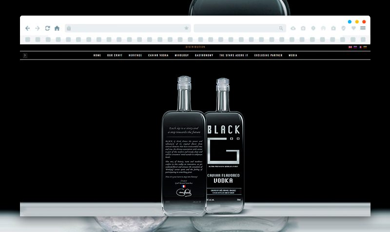 Website Development for Black G vodka