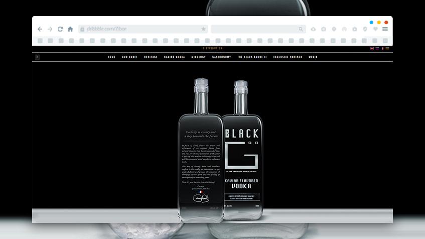 Изработка на уеб сайт за Black G водка