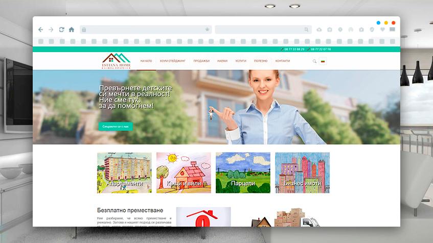 Website Development for Estiana homes