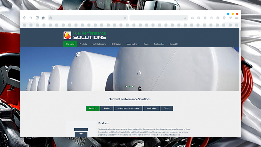 Website Development for Fuel Performance Solutions