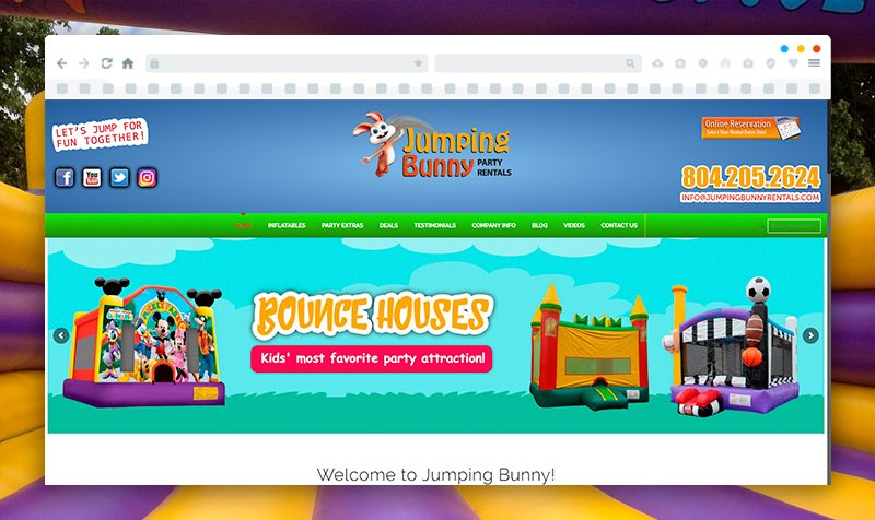 Website Development for Jumping Bunny Rentals