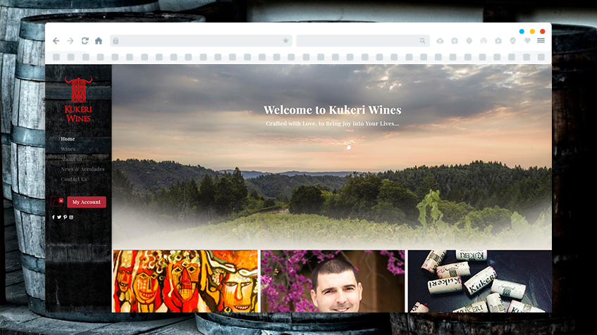 Изработка на онлайн магазин за Kukeri Wines