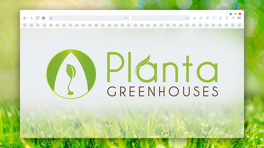 Logo Design for Planta Greenhouse