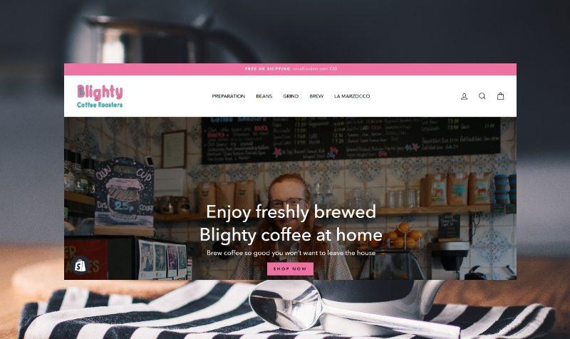 Изработка на онлайн магазин за кафе и аксесоари