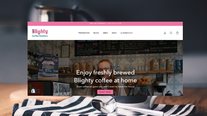 Shopify Online Store for Blighty Coffee
