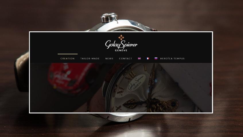 luxury watches web design