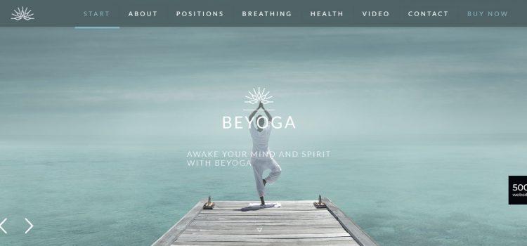 Уеб дизайн за йога студио