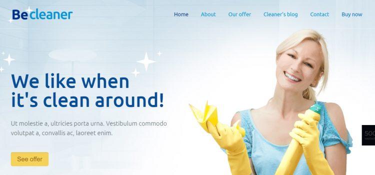 Сайт за почистваща фирма