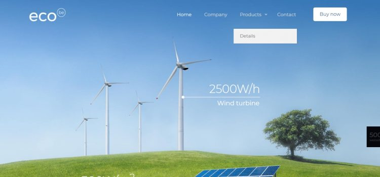 Сайт за производител на зелена енергия