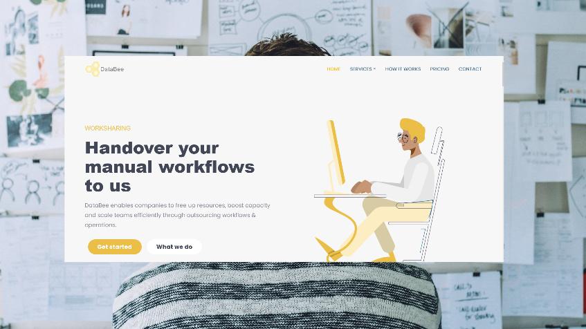 изработка на сайт за аутсорсинг услуги